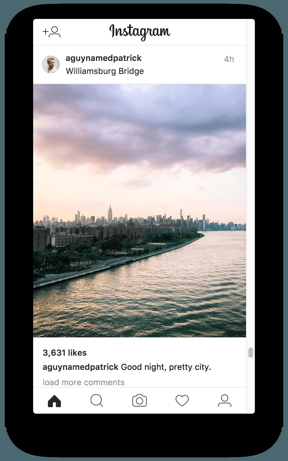 Instagram Screenshot Normale Bilder