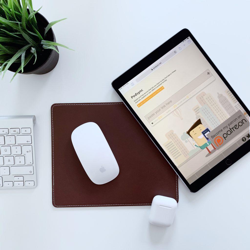 iPad with Podsync