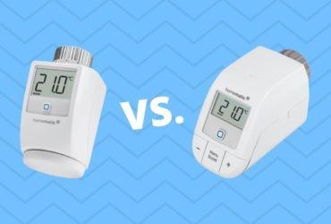 Homematic IP: Vergleich zwischen Heizkörperthermostat & Heizkörperthermostat – basic